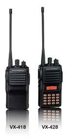 VX-418/428系列 VHF/UHF/350MHz 专业对讲机