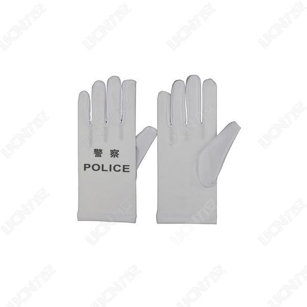 交警执勤白手套